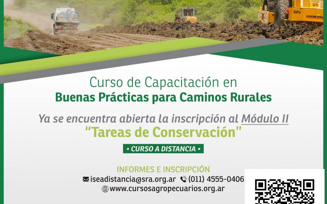 Capacitación en Buenas Prácticas para Caminos Rurales Modulo II